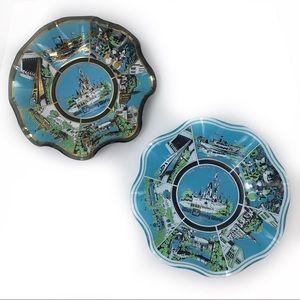 2 Vintage Walt Disney World Ash Trays Jewelry Dish